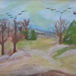Выставка коллективных детских работ Весна